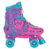 SFR - Hurricane Childs Quad Skate - Ajustable Skates Pink/Purple - UK 8J-11J / EU 25.5-29