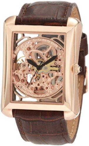 Rose Watch Skelett (Akribos XXIV Herren ak426rg Bravura Automatische Skelett Rose goldfarbene Armbanduhr)