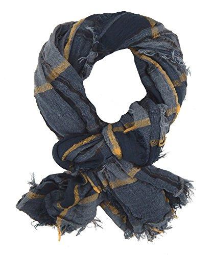 Ella Jonte Herrenschal grau by weicher breiter Schal Viskose weich Casual Style