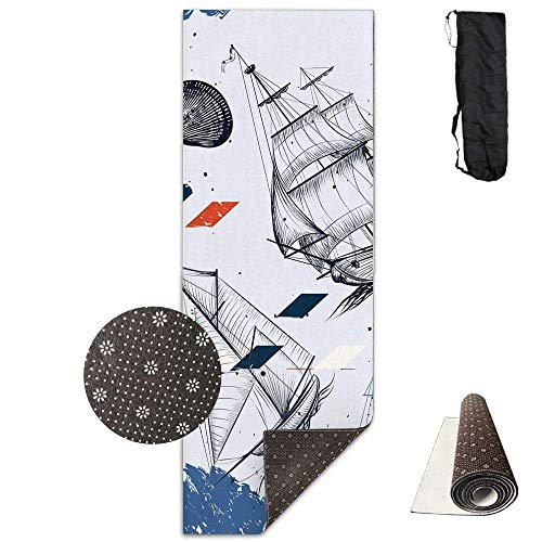 Bag shrot Yoga Mat Non Slip Cool Magician 24 X 71 Inches Premium Fitness Exercise Pilates Carrying Strap Koi-snap
