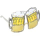 TRIXES Novedosas Gafas, Taza de Cerveza Gafas - Perfecto para Divertido Disfraz, Despedidas de Soltero, Carnival y Festivales - Gafas de Cervecero
