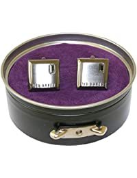 Ted Baker Contrast Square Cufflinks, Gunmetal