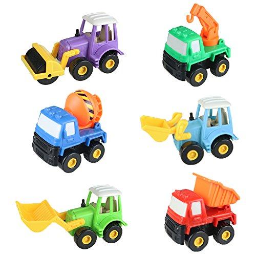 Baufahrzeuge Spielzeug Auto Set Spielzeugauto 6 Pcs Fahrzeuge für Kinder ab 3 jahren