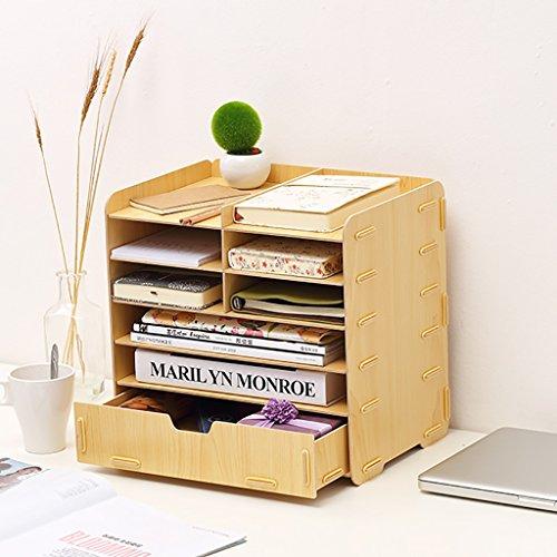 Neue art Multifunktions A4 Dokument regal Größe 35 * 25 * 33 cm holz aktenschrank, empfang storage cabint, kategorie rack, aufbewahrungsbox. (Farbe : C)