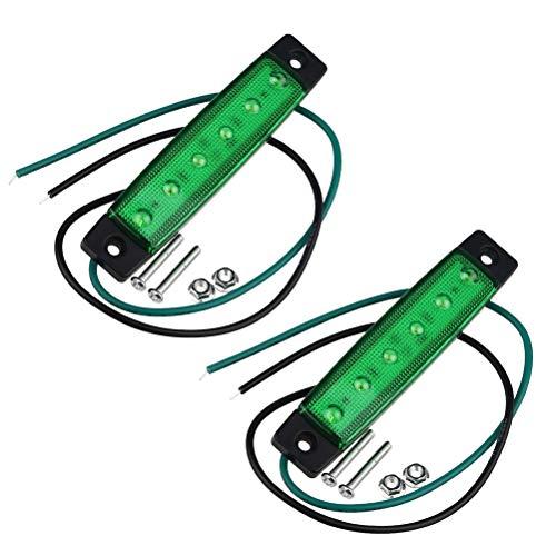 VORCOOL Remplacement de la lumière de Piste 6 LED Conduit lumière de Clignotant de feu arrière Clignotant de Tronc 12V (Vert)