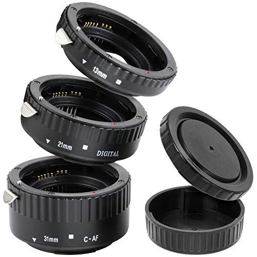 Automatik Zwischenringe '3-teilig 31mm, 21mm & 13mm' für Makrofotographie kompatibel mit Canon EF/EF-S EOS 1200D, 1100D, 1000D, 700D, 600D, 550D, 500D, 450D, 400D, 300D, 70D, 60D, 50D, 40D, 30D, 5D