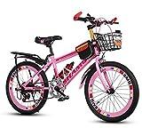 Children's bicycles CivilWeaEU- Kinderfahrräder, 6-7-8-9-10-14 Jahre Alt Kinderwagen Junge Frau Die 20/22 Zoll Student Mountainbike (Farbe : Pink, Größe : 22 inches)