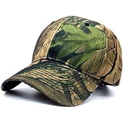 Baiter Unisex camuflaje gorra de béisbol Simplicity al aire libre mujeres sol sombrero hombres pesca sombrero Woodland camuflaje táctico Peaked Cap para senderismo y caza, verde