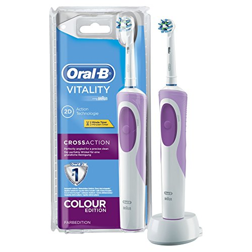 Oral-B Vitality Cross Action - Cepillo de dientes eléctrico blister, color morado