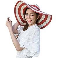 LA HAUTE-Cappello da sole a strisce, alla moda, cappello di
