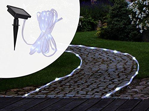 Gravidus Solar-Lichterschlauch mit 50 weißen LED´s