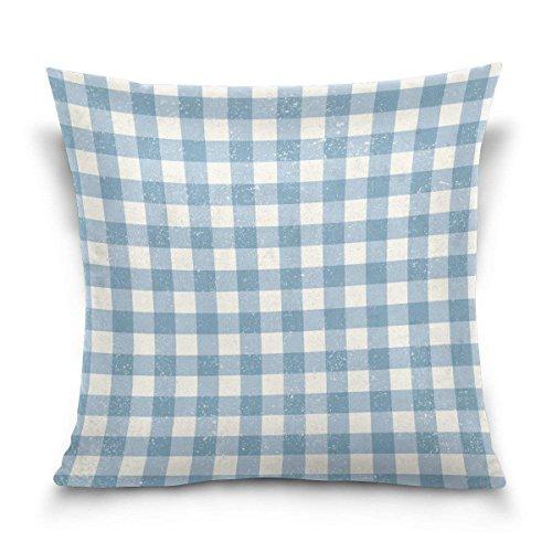 pants hats Blue Gingham Plaid Checkered Stripe Square Throw Pillow Case Cotton Velvet Cushion Cover 18