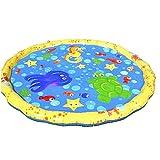 Aisoway Kind Planschbecken Squirt Kiddie-Spaß im Freien Wasser-Spray-Squirt Matten für Kleinkinder