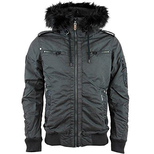 Khujo giacca da uomo Serge 2074jk163 Stone Grey 116 M