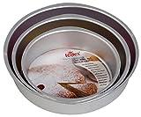 #2: Rolex Aluminium Cake Mould Round (Set of 3),Silver