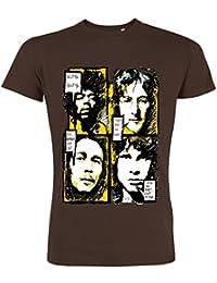 Pushertees - T-Shirt Mann Chocolat LTB-11 musik rock pop reggae legend classic doors beatles Rauchen legend