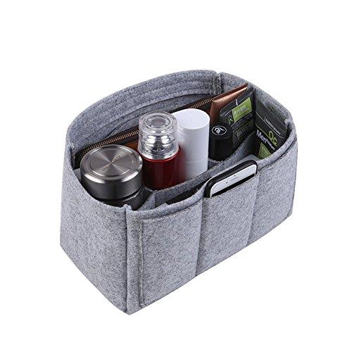 Filztasche Taschenorganizer Filz Make-Up Bag in Bag Kosmetik Tasche Beutel Tote Bag Grau, XGroß (Tote Kosmetik Tasche)
