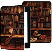 Ayotu Water-Safe Case for Kindle Paperwhite 2018 - PU Leather Smart Cover with Auto Wake/Sleep - Fits Amazon All-New Kindle Paperwhite Leather Cover (10th Generation-2018) K10 The Library
