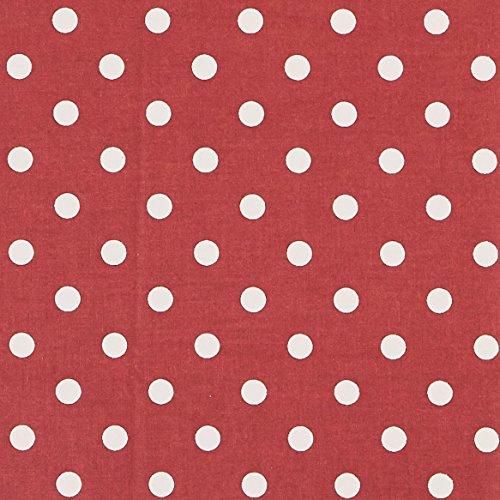 Vinylla lunares rojo algodón recubierto de vinilo fácil de limpiar mantel de hule, Rojo, 140 x 180 cm