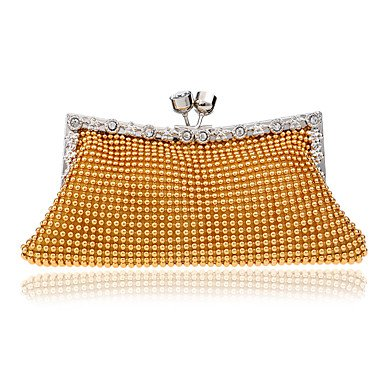 pwne Frauen Abend Beutel Polyester Alle Jahreszeiten Hochzeit Event / Party Formalen Kreativen Pailletten Lock Silber Schwarz Gold Kiss Gold