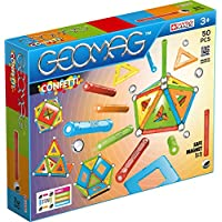 Geomag 352 Confetti Construction Toy, Light Blu, Orange, Green, Red, Yellow