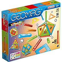 Geomag 352 Confetti Construction Toy, Light Blu, Orange, Green, Red, Yellow