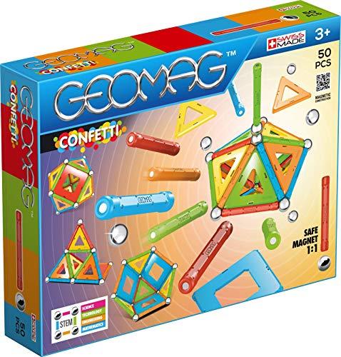 Geomag 352 Confetti Construction Toy, Multicolor, 50 Pieces