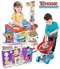 Hi-Widze Super Market Set with Shopping Basket ABS Plastic See Available Choices Super Market Set with Shopping Basket (Multi-1)