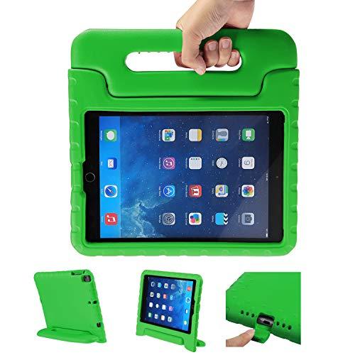 LEADSTAR Kinder Schutzhülle für iPad 9.7 2017 2018, Kinderfreundlich Kinder Schutz Hülle EVA Case Leichte Stoßfeste Schutzhülle Tasche für Apple iPad Air / iPad Air2 / iPad 9.7 2017 2018 (Grün)