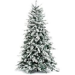 Albero di Natale Innevato Alaska 180 cm - Effetto realistico