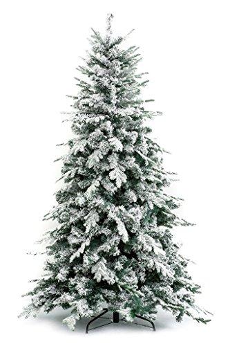 Albero di natale innevato alaska 240 cm - effetto realistico