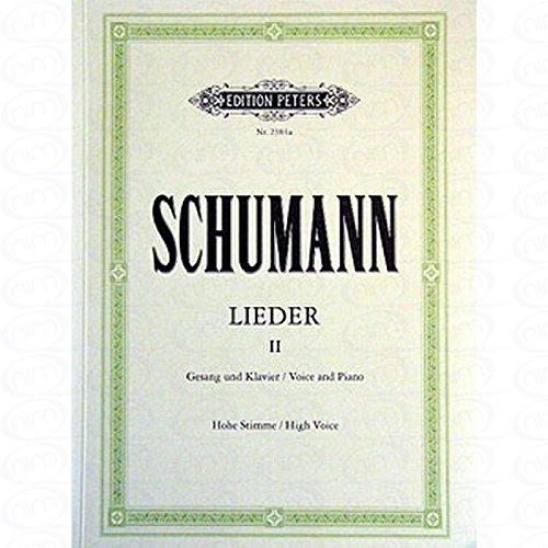 LIEDER 2 - arrangiert für Gesang - Hohe Stimme (High Voice) - Klavier [Noten/Sheetmusic] Komponist : SCHUMANN ROBERT (Zwei Sonnen Am Himmel)