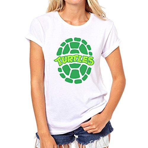 Teenage Mutant Ninja Turtles Edition Chill Green Damen T-Shirt Weiß