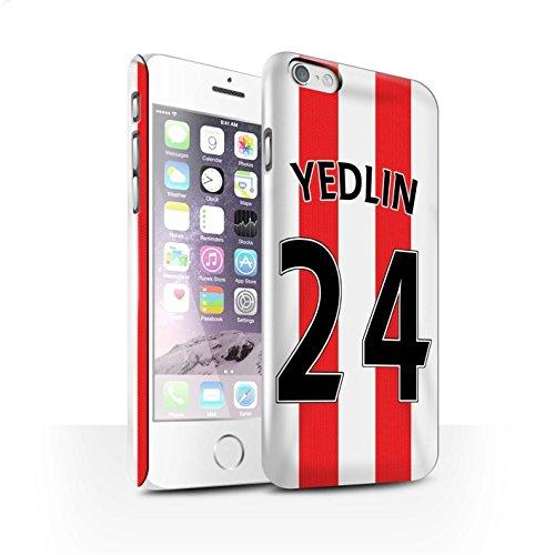 Offiziell Sunderland AFC Hülle / Glanz Snap-On Case für Apple iPhone 6S / Kirchhoff Muster / SAFC Trikot Home 15/16 Kollektion Yedlin