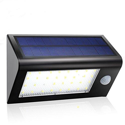 GDEALER 32 LED Solar Wandleuchten 400 Lumen Outdoor Wasserdicht 3 Modi Dim Garten Solarleuten mit Bewegungsmelder für Innenhof Sicherheit Treppe Landschaft Security