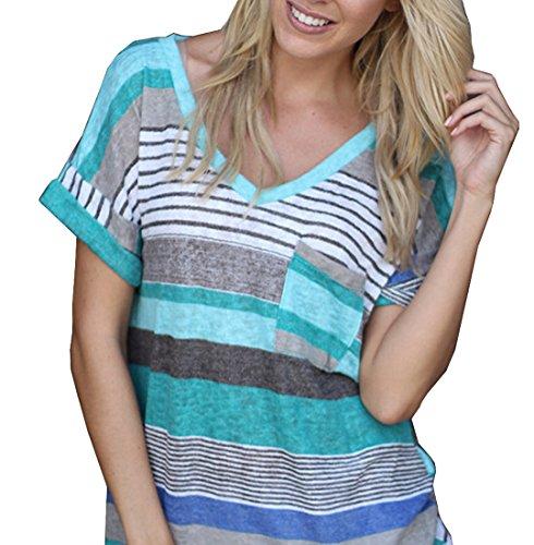 Smalltile Mujeres Verano Camisetas Pullover Casual Camisa...