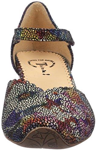 Think AIDA, Scarpe col tacco donna Multicolore (Mehrfarbig (SZ/MULTI 03))