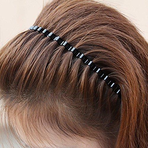 CWAIXX Wellig Stirnband Haarband knallt süße Männer Retro Karte Mädchen Diadem Haarreif Haarschmuck , Schwarz