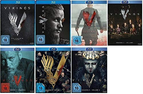 Vikings Staffel 1-5.2 (1+2+3+4.1+4.2+5.1+5.2, 1 bis 5.2) [Blu-ray Set]