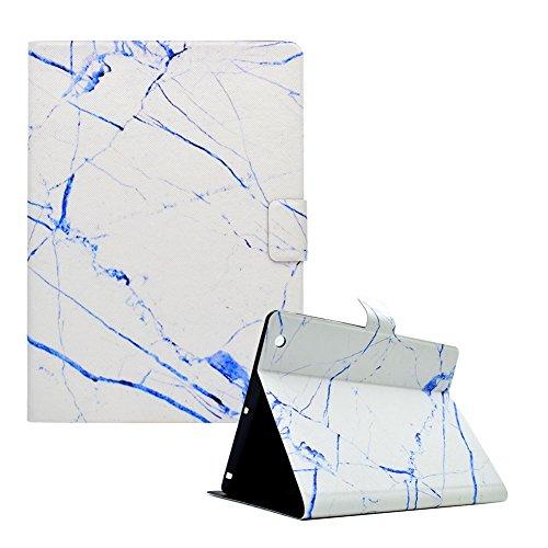 Brieftasche Folio Hülle für iPad 2,Bookstyle Flip Schutzhülle für iPad 3,Funyye Stilvoll Ziemlich [Weiß Blau Marmor Muster] PU Leder Magnetisch Wallet Tasche Hülle Etui Schale mit Standfunktion Weich TPU Inner Ledertasche Hülle für iPad 2/3/4 + 1 x Frei Stylus Pen