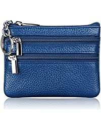 Change Bag Magicub Id Credit Card Coin Key Holder Zipper Purse(Blue)