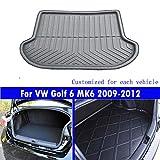 Le nouveau noir mat tapis de coffre de voiture de queue de tapis de coffre Pour Golf 6 MK6 2009 2010 2011 2012