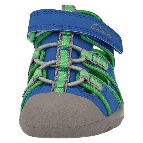 Clarks , sandales garçon Blue Synthetic