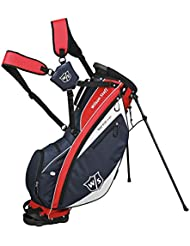 Wilson  IONIX LIGHT CARRY BAG - Bolsa de golf, color azul navy / rojo / blanco