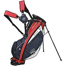 Wilson  IONIX LIGHT CARRY BAG - Bolsa de golf, color azul navy / rojo / blanco