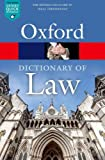 A Dictionary of Law (Oxford Quick Reference) - Jonathan Law