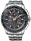 Citizen JY8069-88E Hau Eco Drive Radio Controlled Chronograph Uhr Herrenuhr Titan Titan 20 bar Analog Chrono Datum Grau