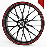 """Wandkings Wheel Rim Sticker 360 red Matte 035 inches/Whole Circle/for 15"""" to 18"""" / Colour & Width are Selectable"""