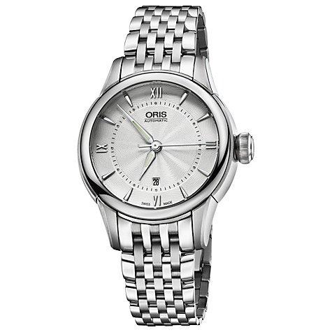 Oris Artelier Cadran argenté en acier inoxydable montre pour femme 561–7687–4071MB