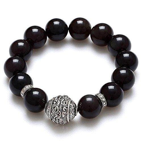 beau bracelet obsidienne/Qualité travail ambiance fashion bracelet F